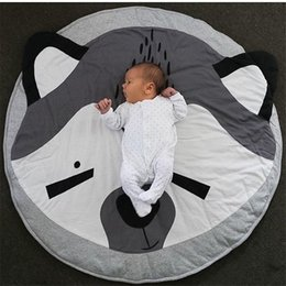 Baby Play Mat Blanket Children Letter Alphabet Crawling Mat Swan Game Pad Round Carpet Children Room Decoration Ins Hot Style Power Source