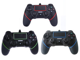 Wholesale New Joystick Game - 2018 New PS4 USB Wired Controllers Gamepads for PS4 Game Controller Vibration Wired Joystick for PlayStation 4 Console Gamers Not Wireless