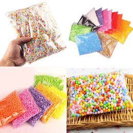 Wholesale toy foam balls - Rainbow Assorted Colors Mini Foam Balls Beads Styrofoam Filler Kids Funny Gift Manual DIY Decor DDA476