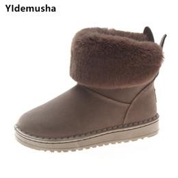 YIdemusha 2018 winter new women boots rabbit ears cute boots waterproof  velvet thick warm cotton shoes lady plush inside shoes 5ecd3fc6f2a9