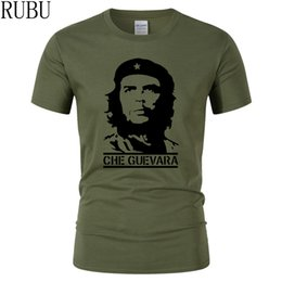 Wholesale wholesale hipster clothes - RUBU Che Guevara Hero Men T Shirt High Quality Printed 100% Cotton Short Sleeve T-Shirts Hipster Pattern Tee Cool Men Clothing