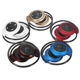 Canada Mini 503 Bluetooth 4.0 Casque Mini-503 Sport Casque Support Micro SD Card Slot + FM Haut-parleurs Musique Stéréo Sans Fil Écouteurs Pour iPhone Offre