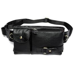 Canada Packs ABDB-taille Fanny Pack Ceinture Sac pour téléphone Pochette Sacs Voyage Ceinture Taille Homme sac taille petit sac en cuir (Noir) Offre