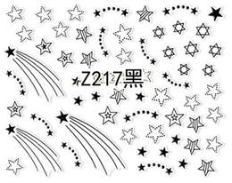 Искусство чёрного металла онлайн-2pcs White Black 3D Nail Slider Decals Nail Art Sticker Glitter Metal Hollow Geometry Star Crown Adhesive Manicure DecorZ217-228