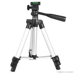 2019 dslr kamerarasche großhandel Universal Professional Aluminium Teleskop Kamera Stativ Ständer Halter Armband Silber Portable