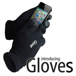 Wholesale Gloves For Mobile - Fashion touch screen Gloves colorful mobile phone touch Gloves smartphone driving glove gift for men women winter warm gloves