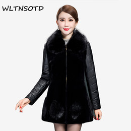 Женская одежда онлайн-2017-18 High quality design ladies winter faux fur coat women winter fashion furs women's leather coats jacket plus size 5XL