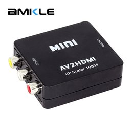 Wholesale rca video hdmi tv - Amkle Mini AV to HDMI Video Converter Box AV2HDMI RCA AV HDMI CVBS to Adapter for HDTV TV PS3 PS4 PC DVD Xbox Projector