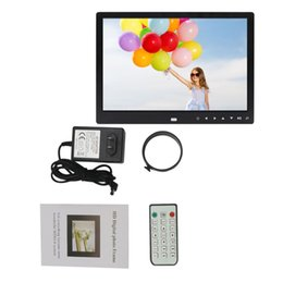 Wholesale Photo Buildings - 12 Inches Digital Photo Frame Electronic Picture Frame 1280*800 with Clock Calendar Remote Control Built-in Speaker Free Ship