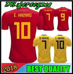2018 World Cup Belgium Soccer Jersey 18 19 LUKAKU FELLAINI E.HAZARD KOMPANY DE  BRUYNE MERTENE 18 19 Belgium football shirt 62a9922ce