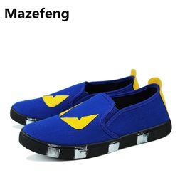 Корейская обувь для мужчин онлайн-2016 Корейский Лето Новый Прилив Маленький Монстр Холст Обувь Мужчины Повседневная Обувь Эспадрильи Мокасины Дышащий Zapatos Hombre Размер 7-9.5