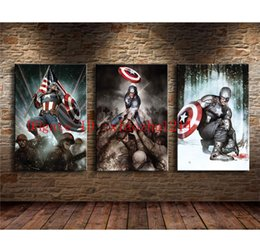 Wholesale More America - Captain America -2,3 Pieces Home Decor HD Printed Modern Art Painting on Canvas (Unframed Framed)