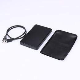 Taşınabilir 2.5 Inç HDD Durumda USB 2.0 Harici Sabit Disk SATA Sabit Sürücüler USB Kablosu ile HDD Kutu Muhafaza Siyah nereden