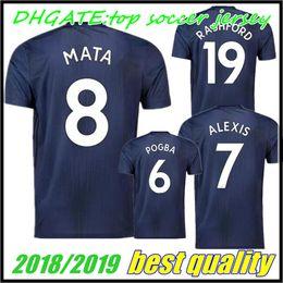 Wholesale Flash Football - new 18 19 POGBA ALEXIS soccer jersey LUKAKU UNITED 2018 2019 RASHFORD LINGARD UTD MATA MATIC MARTIAL jerseys Home Third Football shirt