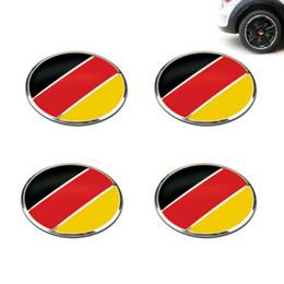 4 unids   lote 56 mm bandera alemana de aleación de rueda de coche centro  Hub Caps etiqueta emblema para Universal Cars Moto bicicleta decorativa 9416d2db6f7