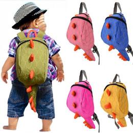 Wholesale Dinosaur Backpacks - Kids Backpack Cotton Dinosaurs School Bags mochila infantil Cartoon Animals SchoolBag Gift For Kids Mochila Infantil Hot Sale