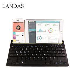 Wholesale Landas in drahtlose Bluetooth Tastatur für iPhone Tastatur für iPad Luft Luft Tablette für Andriod Telefon Tischrechner und nach Hause