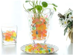 Wholesale Decorative Household - New colorful Crystal puree beads Water Beads plant decoration Crystal mud household Decorative supplies children toys