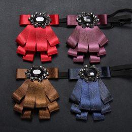 Formal novio corbatas en línea venta Moda novio desgaste envío gratis cristal buen novio desgaste corbata de noche regalo hermosa pajarita corbata de moda desde fabricantes