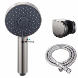 Wholesale Handheld Shower Sets - Brushed Nickel Bathroom 5 Function Handheld Shower head & Shower Holder & 1.5 Nickel Hose