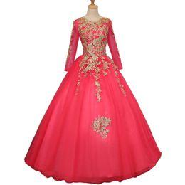 Deutschland Real Arabisch Dubai Ballkleid Prom Kleider Perlen Applique Spitze Perlen Long Sleeves Abendkleid Korsett Abend Party Kleider 2018 Online-Verkauf Versorgung