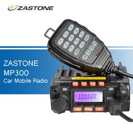 Wholesale Uhf Way Radio Mobile - ZASTONE MP300 25W Car CB Walkie Talkie Mini Mobile Radio FM Transceiver Dual Band UHF VHF Two Way Ham Radio QYT KT-8900 Style