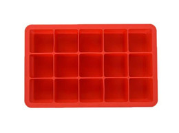 square silicone ice cube tray Promo Codes - Silicone Square Ice Cube Tray Maker Mold Mould Making Candy Chocolate Baking Cake Fruit Pudding for Cocktail Cola Bar Pub Party 15 Units hot