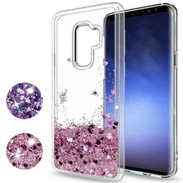 Wholesale Case For Star A3 - Soft TPU Hearts Stars Glitter Dynamic Liquid Quicksand Cover For Samsung Galaxy S7 Edge S8 S9 Plus Note 8 J3 J5 J7 Pro A3 A5 A7 2017 C5 C7