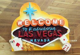 Wholesale Tourist Souvenir Gift - LAS VEGAS, United States Tourist Travel Souvenir 3D Resin Decorative Fridge Magnet Craft GIFT