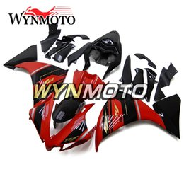 Wholesale Yzf Cowling - Complete Fairings Yamaha YZF1000 R1 2012 Injection Mold Bodywork Motorcycle Fairing Cowling Black Red