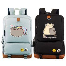 Wholesale kawaii mini dress - New Arrival Pusheen Cat Printing Backpack Kawaii Women Backpack Canvas School Bags Lovely Pusheen Bags Mochila Feminina