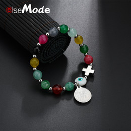 Elsemode Saint Benedict Of Nursia Catholic Handmade Bracelet Adjustable Charm Pearl Pendant Bracelets For Women Bracciali Gift Jewelry & Accessories