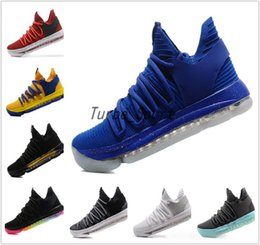Wholesale Cheap Kd Shoes Free Shipping - 36 Style KD 10 Basketball shoes for Men Cheap Sale FMVP Signature Shoes Classic Kevin Durant Sneaker Free Shipping With Box