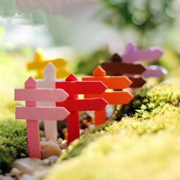 telefono ufficio d'epoca Sconti Mini Miniatura In Legno Recinzione Cartello Craft Garden Decor Ornamento Vaso da Fiori Micro Paesaggio Bonsai DIY Dollhouse Fata jc-295
