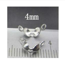 morsetto di bracciali Sconti Argento 925 perline buste fermacavo fibbia fine fibbia 3mm / 4mm accessori gioielli fai da te Y0121