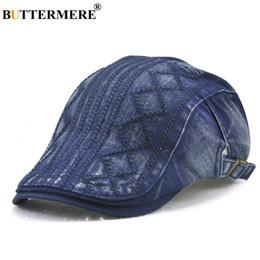 111da146cab91 boinas bordadas Rebajas BUTTERMERE Azul Beret Hombres Bordado Duckbill de  Algodón Ivy Sombreros Macho Ajustable Retro