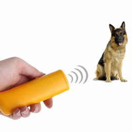 Wholesale Ultrasonic Anti Dog Repeller - LED Ultrasonic Dog Repeller Anti Bark Dog Stop Barking 3 in 1 Pet Training Device Control