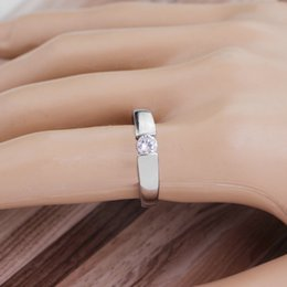 Wholesale unique couplings - Unique Crystal Rings Silver Rose Gold Color Fashion Engagement Ring Jewelry For Couple Best Gifts Valentine's Day Personalized Jewelry