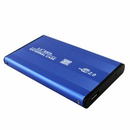 Wholesale Hard Disk Notebook - 2.5 Inch USB 2.0 SATA External Mobile Hard Disk Box Aluminum Alloy Shell HDD Adapter Case Enclosure Box for PC Laptop Notebook