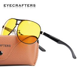 2020 nachtgläser Mens Pilot HD Polarisierte Sonnenbrille Nachtsichtbrille Blendschutz Nachtsichtbrille Blendung Block Fahrer Sonnenbrille Eyewear rabatt nachtgläser
