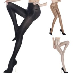 Wholesale Hose Women - Glossy socks Seamless Pantyhose Super Thin Toe Silk Reflections Panty Hose