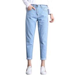 153d0a85363b 2018 Winter Kleidung Damen Hohe Taille Mom Weibliche Boyfriend Jeans Für  Frauen Hosen Hosen Denim Zerrissene Jeans Frau Plus Größe 34
