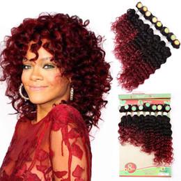 Nadir Saç 8-14 inç Derin Dalga Saç Uzantıları Dikmek Sentetik Saç Dokuma 8 adet / paket bir kafa için tam supplier sew weave hair nereden örgü saçlarını dikin tedarikçiler
