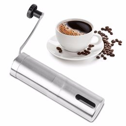 Wholesale Hand Grinders Coffee - Manual Coffee Grinder Conical Burr Mill 304 Stainless Steel Core Coffee Grinding Hand Mill Cafe Burr Mill Grinder Tools