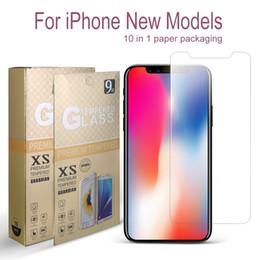 Canada Pour iPhone XS Max XR Protection d'écran 0.33mm Protection Verre Trempé Pour iPhone 8 iPhone 7 Film De Protection avec Paquet De Papier Offre