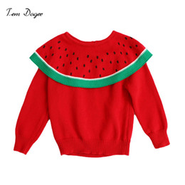 b3c8ad77cd8 Tem Doger Toddler Girls Sweaters Winter 2018 New Girl Knitted Clothes Kids  Autumn Ruffles Collar Sweater For Girls