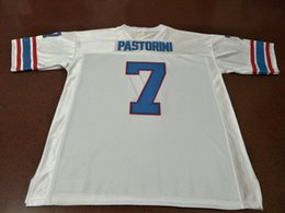 a35bad982 CUSTOM Men  7 UNSIGNED Sewn Stitched Dan Pastorini Blue White College Jersey  size s-4XL or custom any name or number jersey