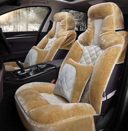 Cubiertas de los asientos de imitación online-Universal Fit Car Interior Accesorios Fundas para asientos de cinco plazas sedán Calidad asiento caliente de la cachemira del sistema completo de fundas para los SUV vehículo automotor