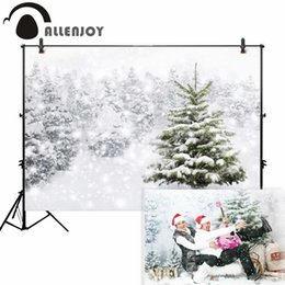 fotografie backdrops bokeh Rabatt Allenjoy-Hintergrundphotographiewinter-Schneebaum weißes bokeh Weihnachtshintergrundnaturphotocartstütze fertigen ursprünglichen Entwurf besonders an