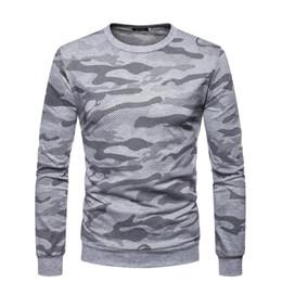 Xl mode camo kleidung online-Herren Designer T Shirts Sport Plus Größe Camo Slim Fit Top Langarm O Hals Herbst Mode Lässige Kleidung